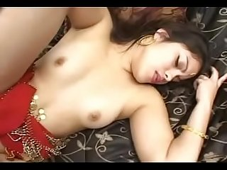 Indian Arab girl Kharyi in red dress showing and seducing herself and then fucked by his boyfriend