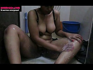 Indian Whore Putting Milk All Over