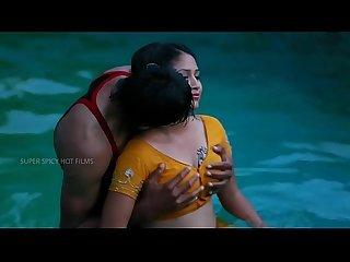 07 hot figure mamatha enjoy at swimming pool