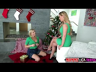 Blonde chick zoeys best christmas ever with her mom cherie