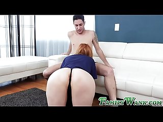 Busty stepmom stepsister loves her stepbrothers fat dick