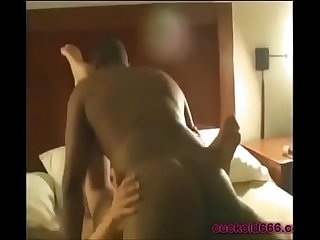 Wife creampied by bbc while cuckold hubby films on cuckold666 period com