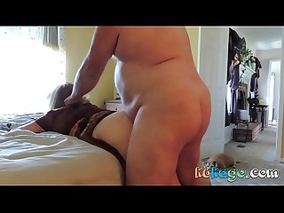 Fat guy gives it to her