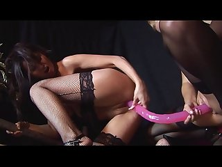 5 Hot Big Tits Sluts in Lesbian Orgy with Toys & Smoking