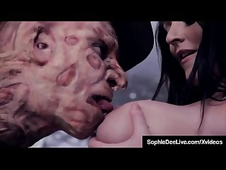 Brunette brit sophie dee dream fucked by freddy krueger
