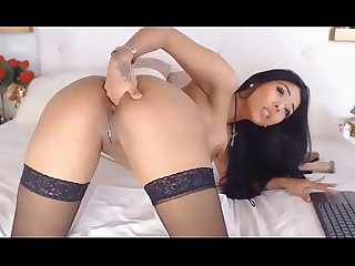 Hubpp period com latina sex show with dildo comma pussy and anal sex comma black nylon stockings