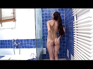 Russian nympho maniac stacy snake cums hard in the bathroom
