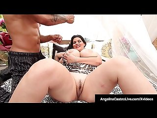 Cuban Dicktaster Angelina Castro Gets Iced Down To Her Pussy