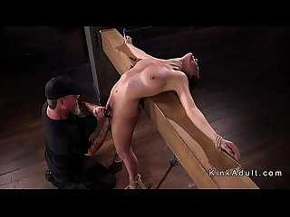 Brunette in breaking point bondage tormented