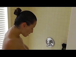 Huge Tits Shower Blowjob