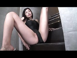Maria sano high leg swimsuit black part1 legs fetish image Video no sound solo