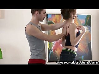 Rubateen tall euro teen aliya rubbed fucked facialized