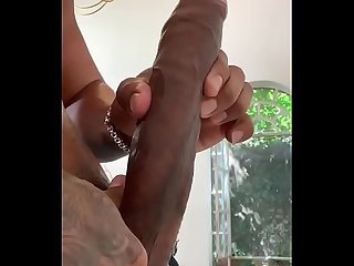Brazilian Rodrigo plays with his 11 in cock