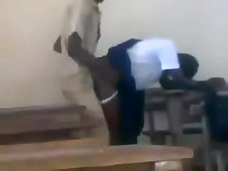 Nigerian school girl get fucked in class