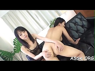 Oriental cum hole and anal fuck