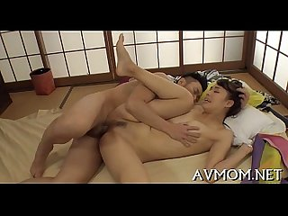 Hot asian mommy strip tease