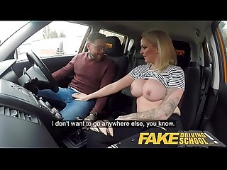 Fake Driving School 2 students have hot backseat sex when instructor leaves