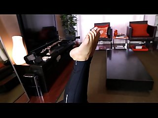 Becky S foot fetish film a sneak peek at Maya S sexy feet