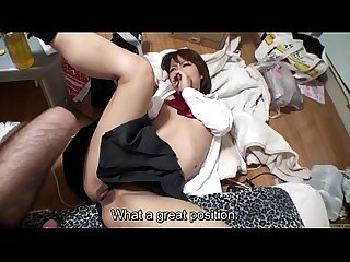 Subtitled uncensored japanese schoolgirl pov blowjob and sex