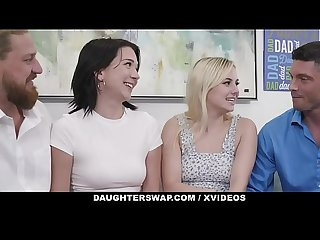 DaughterSwap - (Aria Banks) (Riley Jean) Eating Each Other Out To Please..