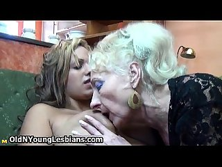 Horny granny loves sucking
