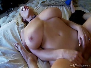 Huge titted kelly madison begs for cock