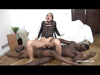 Nataly Gold - Watch and see how 4 black guys destroy her asshole
