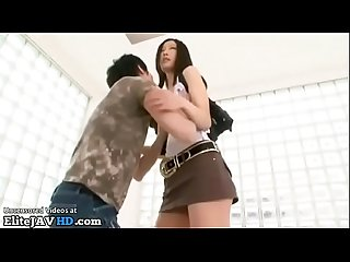 Japanese short guy loves to fuck tall babes