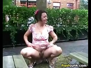 You mature lady banged flash