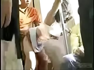 Japanese grouping fun in the Bus watch Part2 on porn4us org