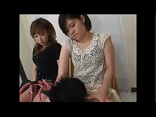 two japanese femdom force licking pussy