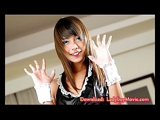 Ladyboy nay strips and strokes