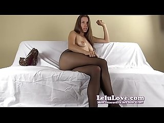 Pantyhose FemDom humiliates you and tells you what to do and say
