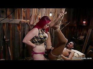 Busty Dom bbw Anal Fickt SCHWARZ slave