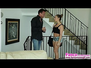 Tiny brunette cassidy klein gets her pussy fucked by marco banderas