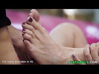 Red Toenails Sexy Feet Renata Fox handles Toby