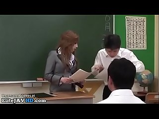 Japanese sexy teacher gives a reward to her students