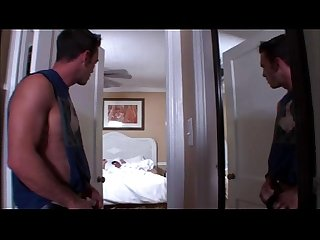 Nasty gay voyeur gets hard