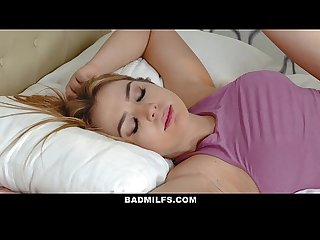 Badmilfs step mom jacks off and fucks step son