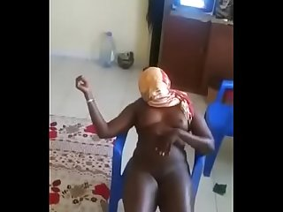 Girl from senegal striping for boyfriend