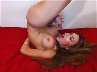 Lovely shemale s self facial cumshot