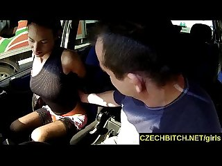 Czech bitch real czech slut fucked in the car