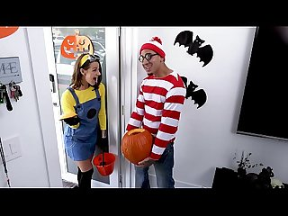 BANGBROS - Teen Evelin Stone Gets Bruno Dickemz's Dick In A Pumpkin