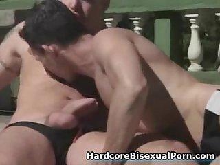 Bisexuals fucking outdoor
