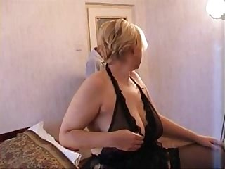 Russian blonde mom and son next door