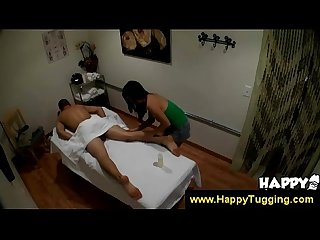 Asian masseuse examines her clients body