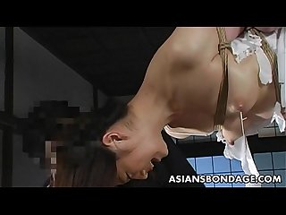 Lovely Japanese cutie gets bound, suspended and tormented