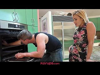 Karups - MILF Blaten Lee Gets Fucks In The Kitchen