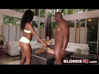 Black Couple Takes Advantage of an Italian Girl Valentina Nappi - Chanell Heart