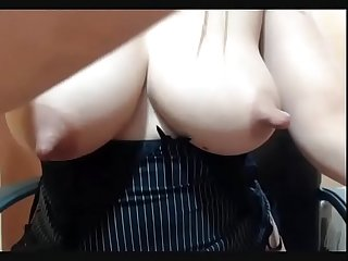 Milking nipples on cam show watch her live at www angelzlive com